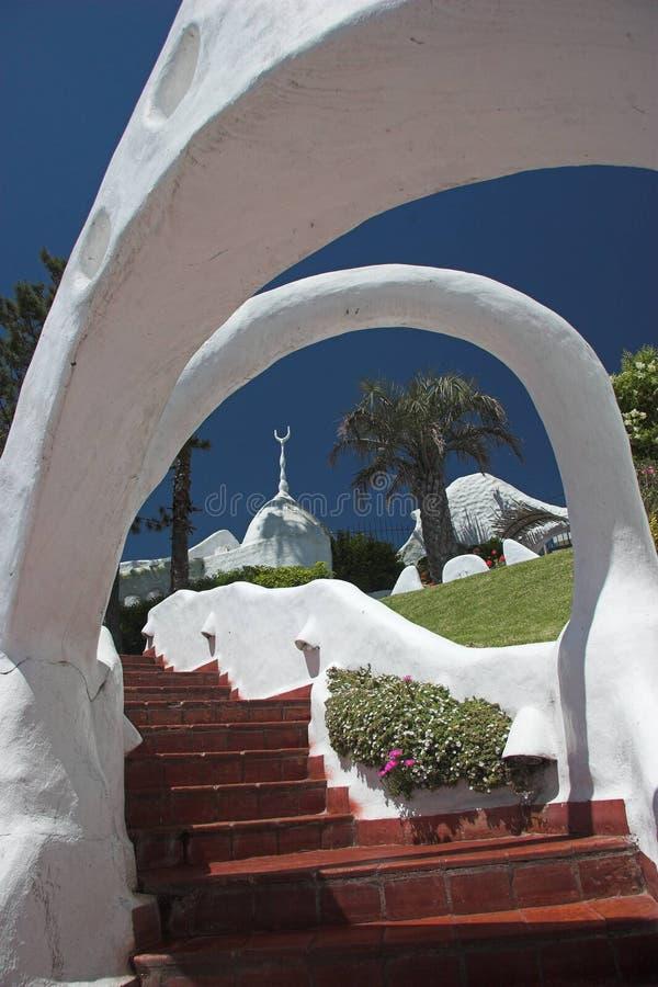 Hotel Casapueblo, Punta del Este, Uruguai imagem de stock