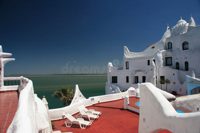 Hotel Casapueblo, Punta del Este, Uruguay royalty-vrije stock afbeelding
