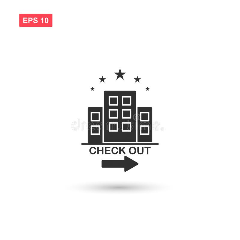 Hotel check out vector isolated 2 stock illustration