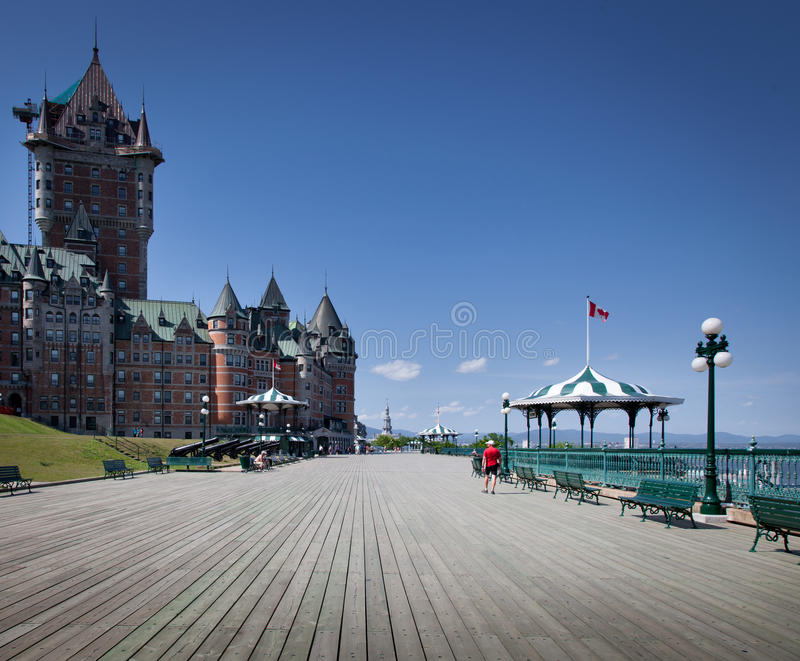 Hotel in a city, Chateau Frontenac Hotel, Quebec. City, Quebec, Canada stock photos