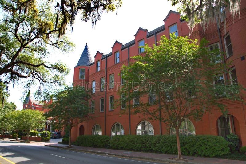 Hotel clásico del ladrillo rojo imágenes de archivo libres de regalías