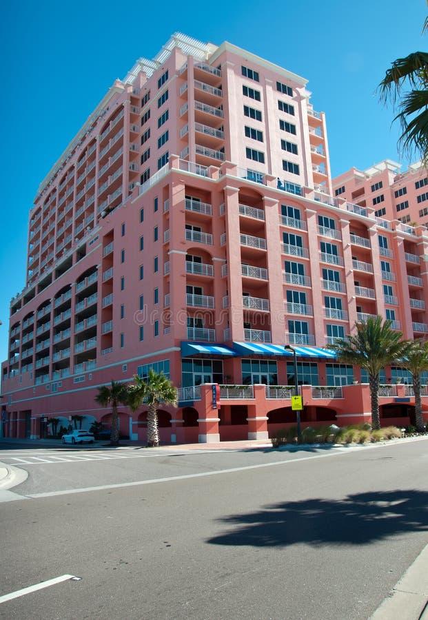 Hotel am Clearwater Strand stockbild