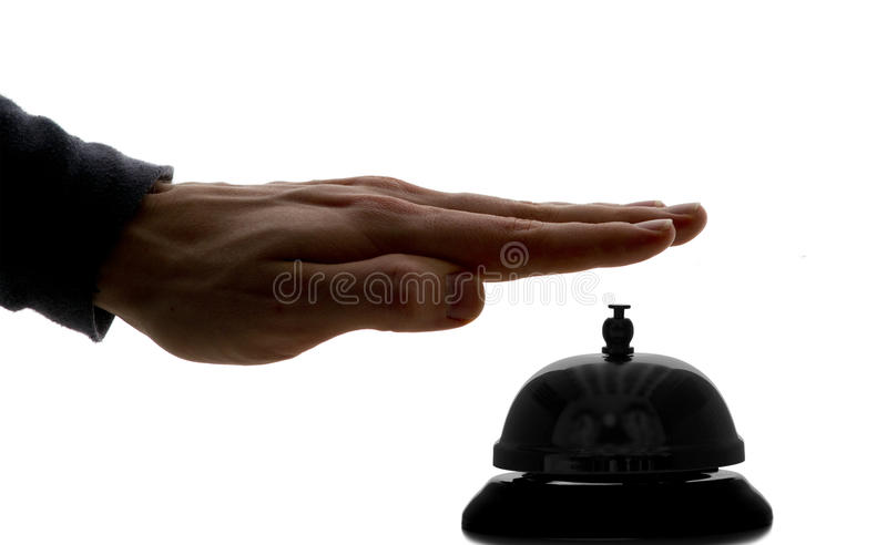 Hotel Concierge Bell royalty free stock photo