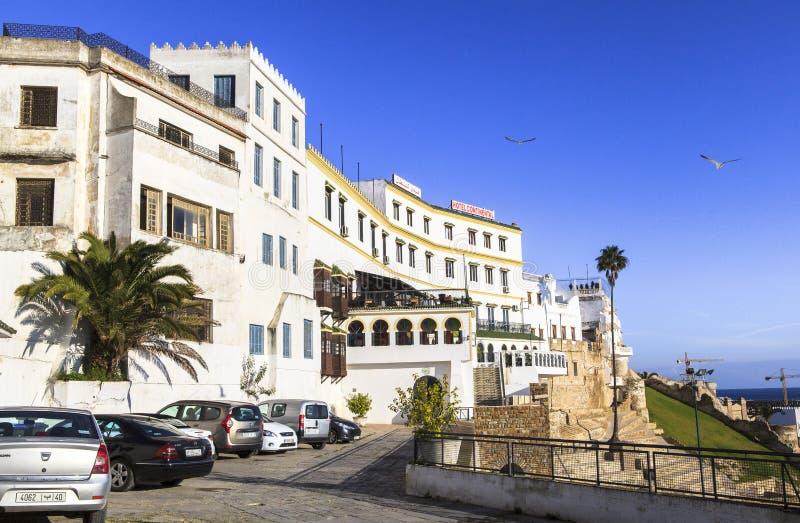 Hotel continental em Chefchaouen, Marrocos imagens de stock royalty free