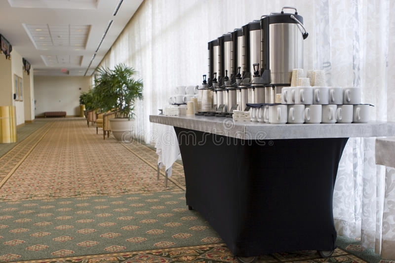Hotel convention coffee break. Hotel convention center coffee break royalty free stock photo