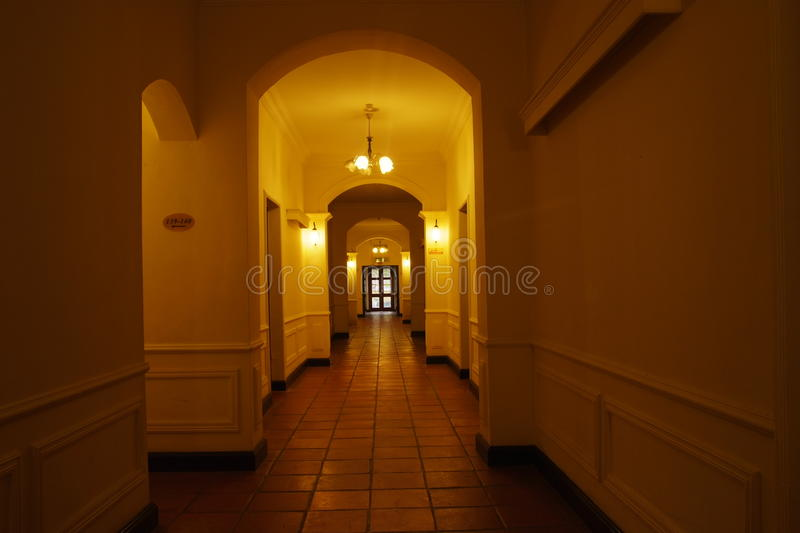 Download Hotel Corridor stock photo. Image of walkway, interior - 20981350