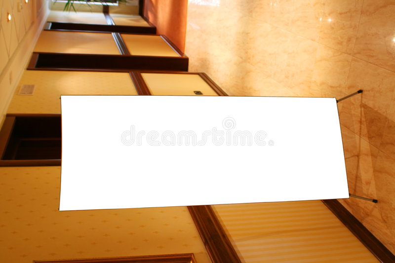 Hotel Corridor With Advert Place Royalty Free Stock Photos