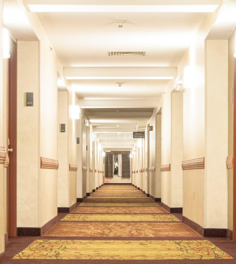 Corridor Roof Design: Hotel Corridor Royalty Free Stock Image