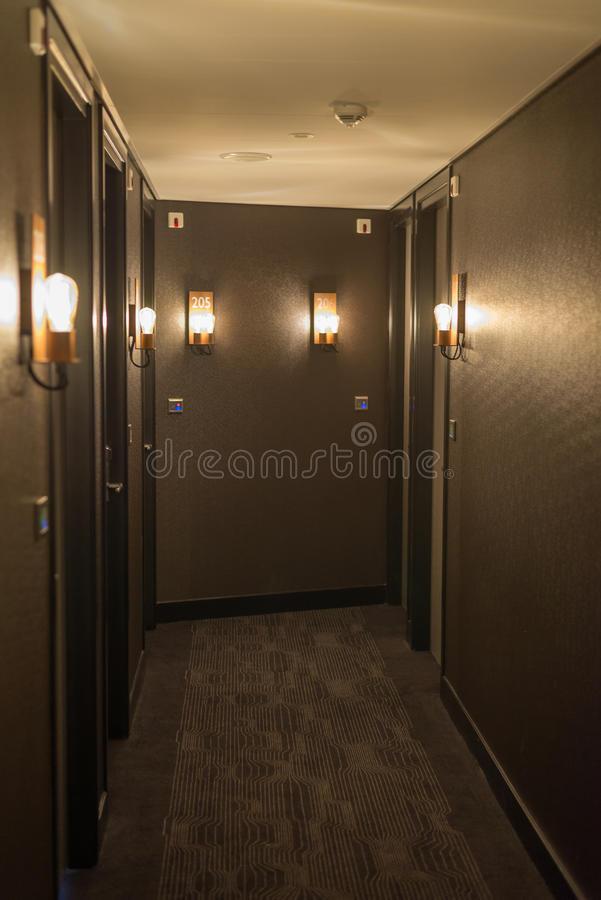 Hotel corridor interior royalty free stock images