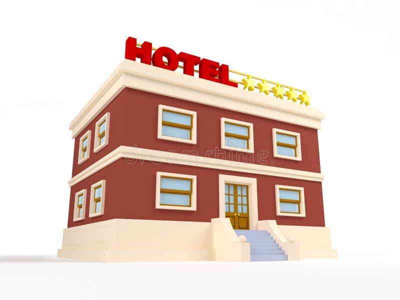 hotel 3d stock de ilustración