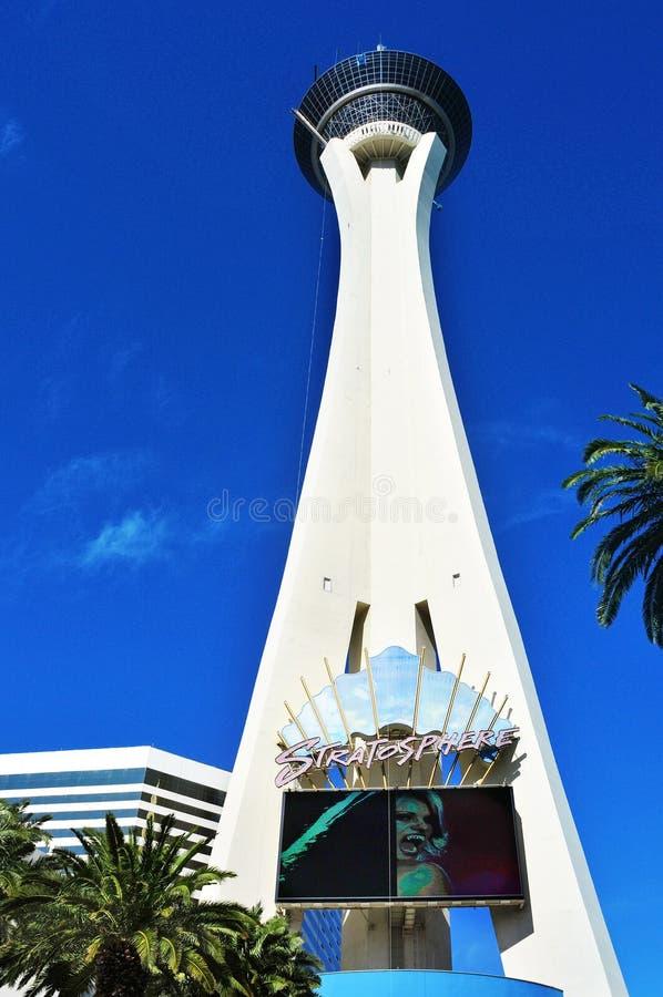 Hotel da estratosfera em Las Vegas, Estados Unidos fotos de stock