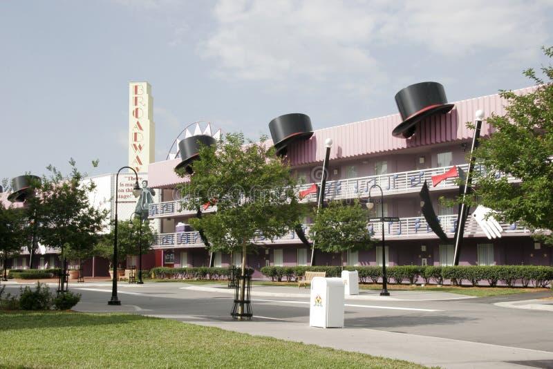 Hotel da música de All Star Disney Broadway imagem de stock royalty free