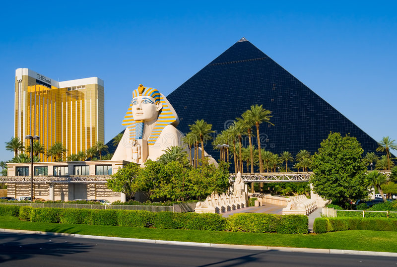 Hotel da pirâmide em Las Vegas imagem de stock royalty free