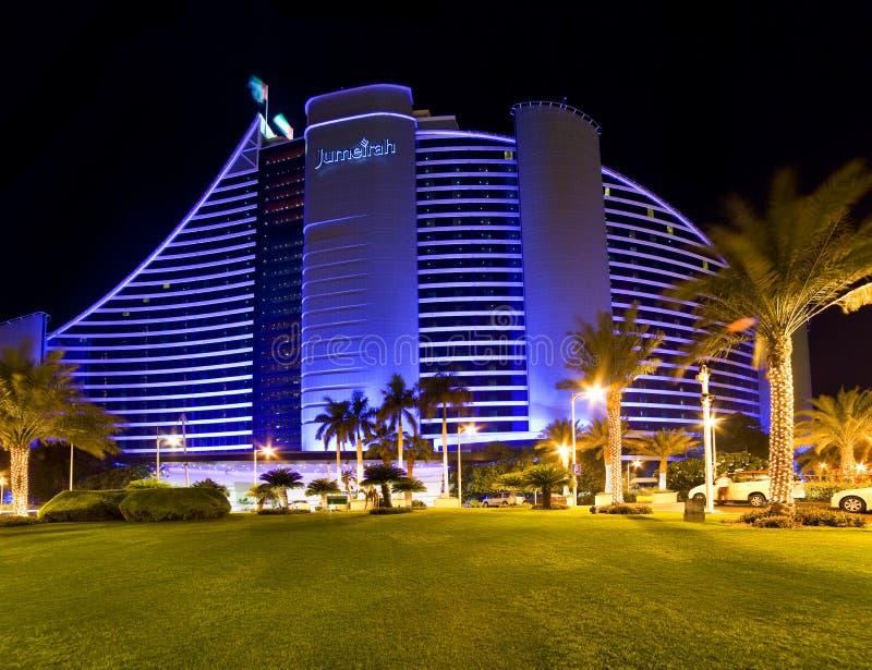 Hotel da praia de Jumeirah, Dubai fotografia de stock royalty free
