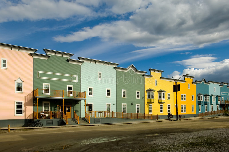 Hotel in Dawson City stock photos