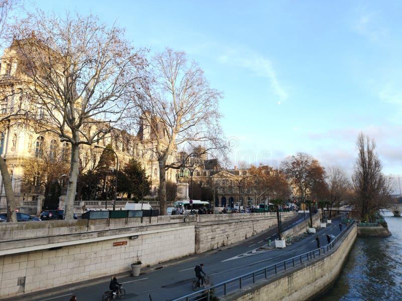 Hotel de韦莱在巴黎,在塞纳河旁边的法国 库存图片
