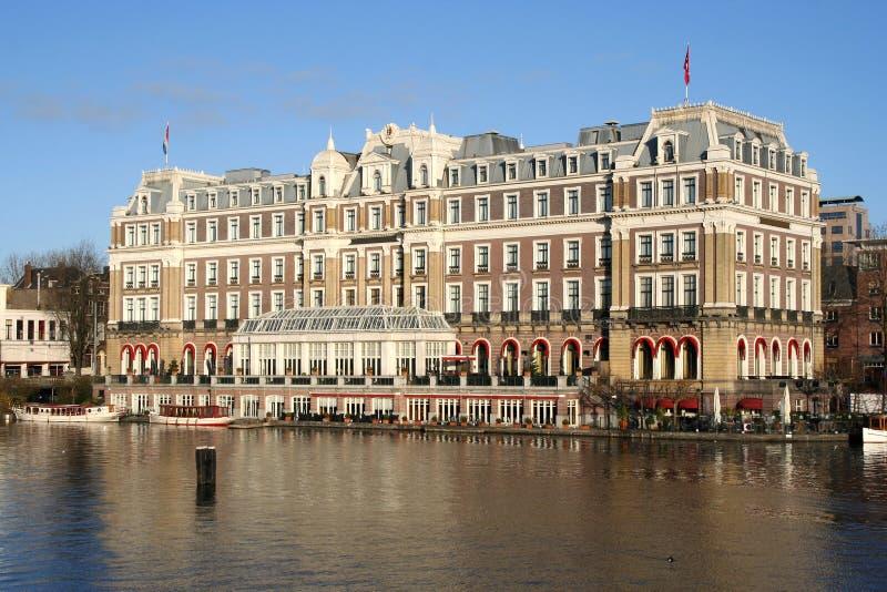 Hotel de Amsterdam imagenes de archivo
