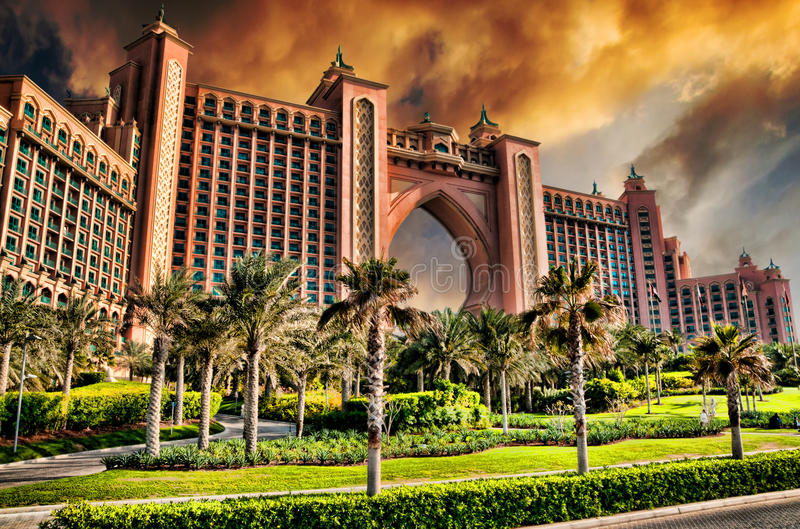 Hotel de Atlantis en Dubai imágenes de archivo libres de regalías