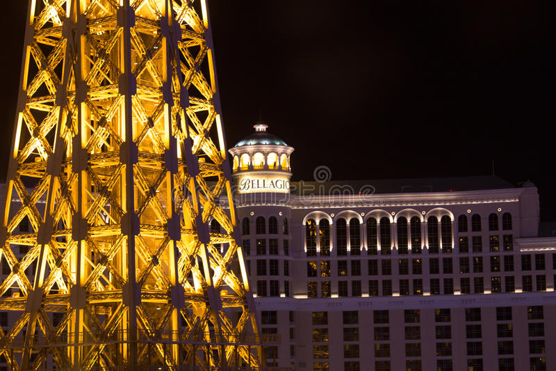 Hotel de Bellagio, Las Vegas foto de archivo