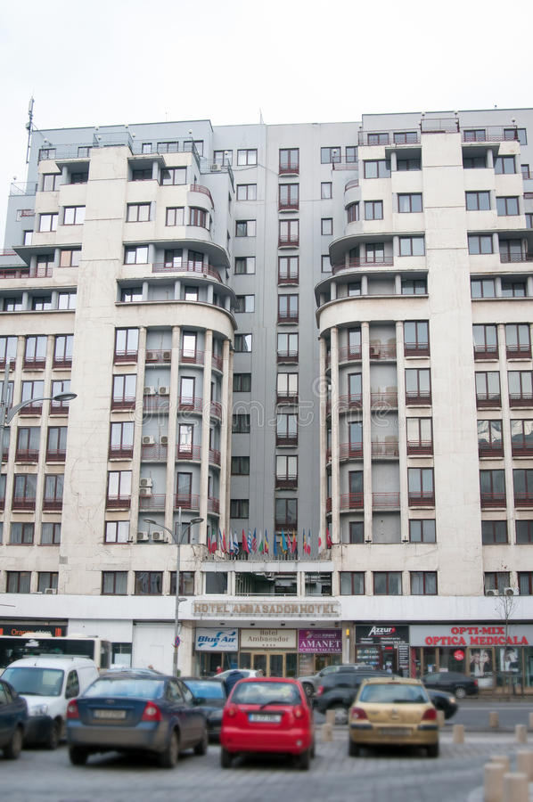 Hotel de Bucareste Ambasador fotografia de stock