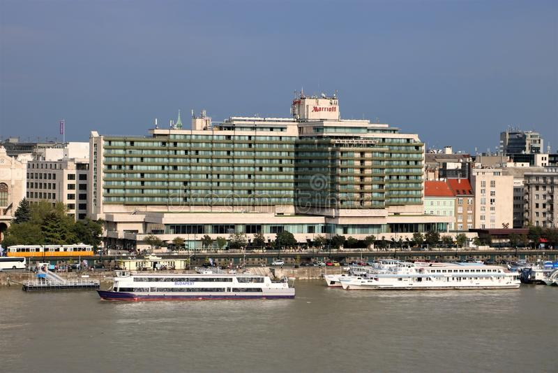 Hotel de Budapest Marriott imagens de stock royalty free
