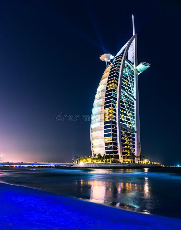 Hotel de Burj Al Arab, Dubai, UAE imágenes de archivo libres de regalías