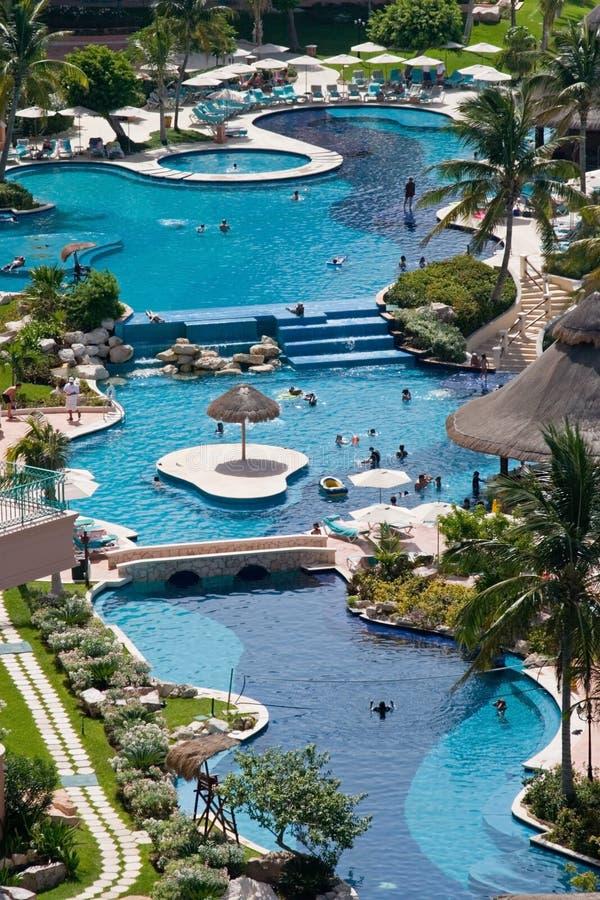 Hotel de centro turístico del Caribe fotografía de archivo libre de regalías