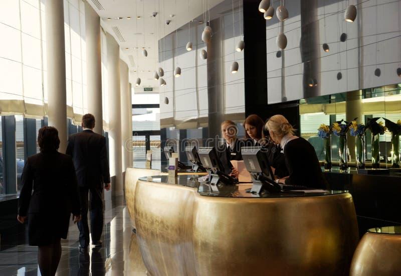 Hotel de cinco estrelas da recepção   imagem de stock