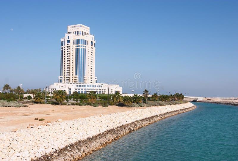Hotel de Doha Ritz-Carlton fotografia de stock