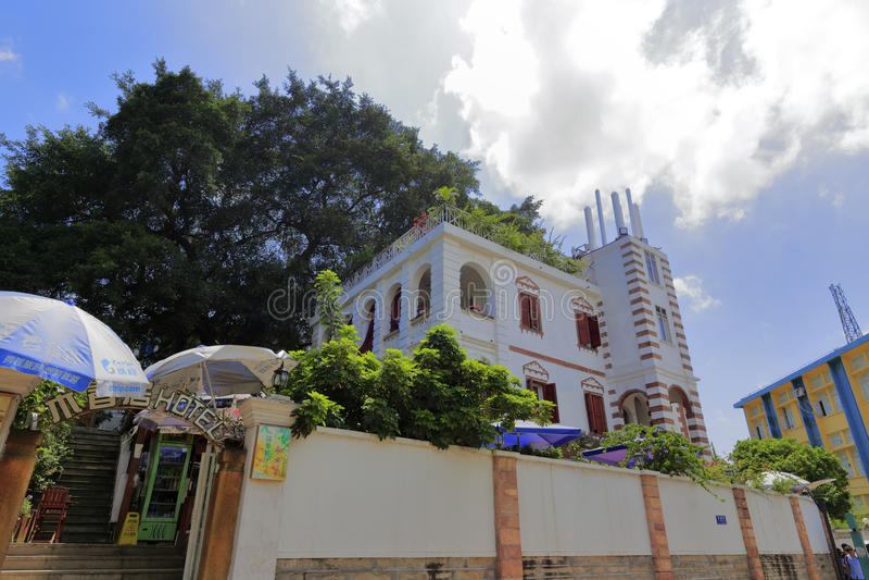 Hotel de familia hermoso cerca de la residencia anterior del linzumi general foto de archivo