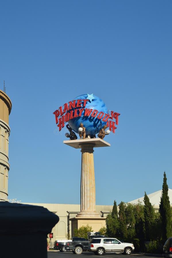 Hotel de Hollywood do planeta na tira de Las Vegas Férias do curso foto de stock