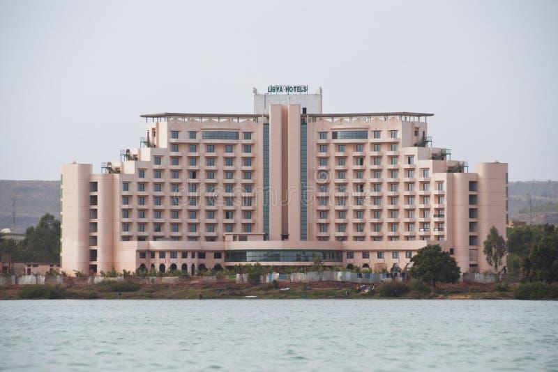 Hotel de Líbia em Bamako foto de stock