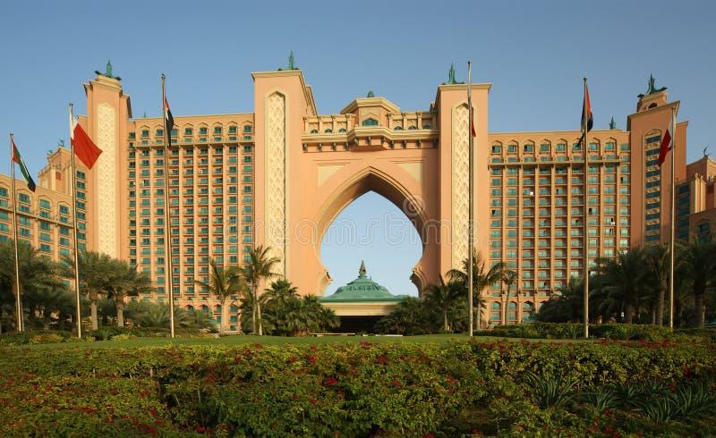 Hotel de la Atlántida, palma Jumeirah, Dubai, United Arab Emirates imágenes de archivo libres de regalías