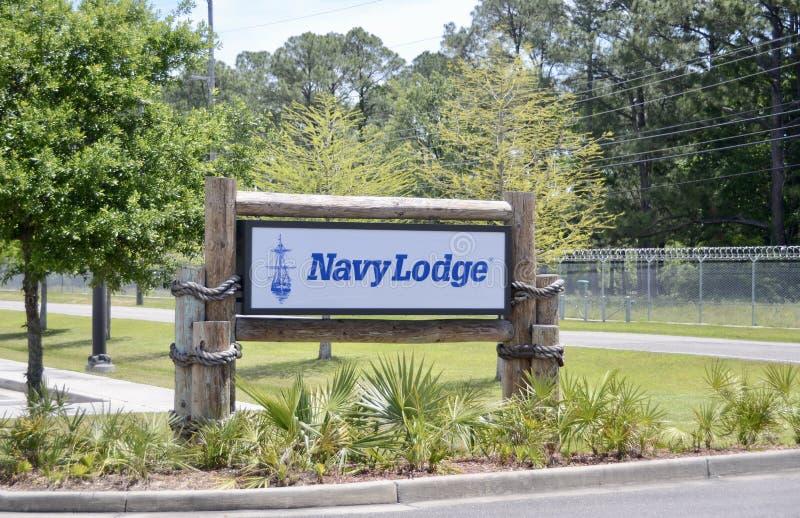 Hotel de la casa de campo de la marina de guerra foto de archivo