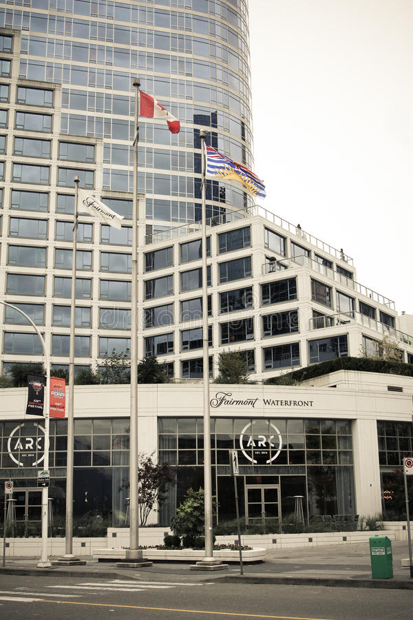 Hotel de la costa de Fairmont, Vancouver, A.C. fotografía de archivo libre de regalías