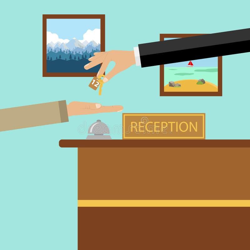 Hotel de la recepción stock de ilustración