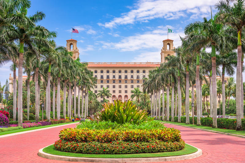 Hotel de los trituradores en West Palm Beach imagen de archivo