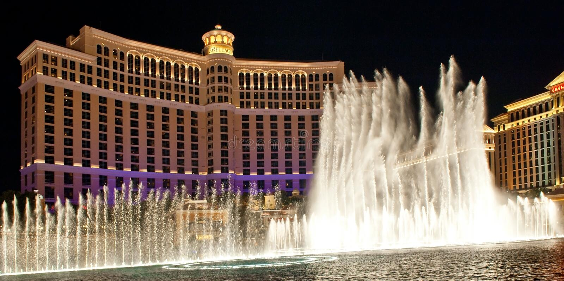 Hotel de lujo Bellagio, Las Vegas fotos de archivo