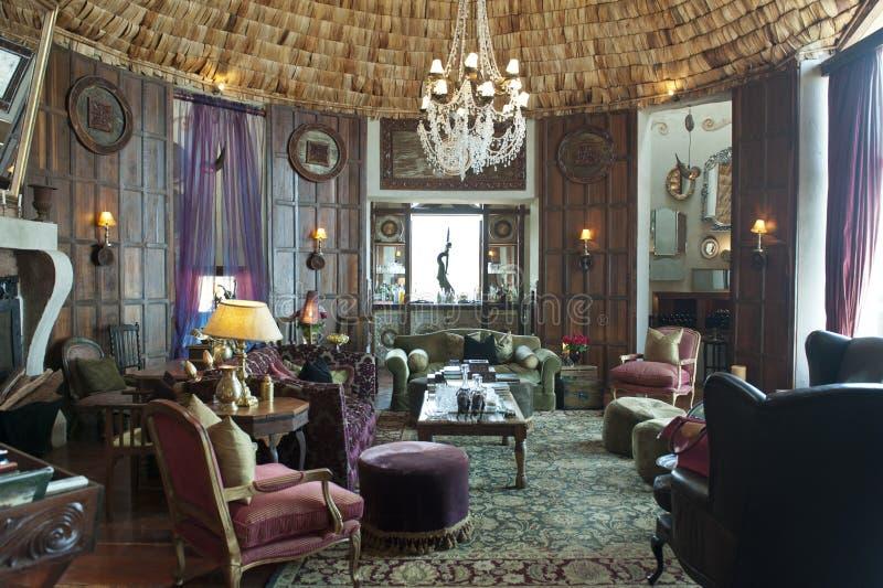 Hotel de lujo del safari en el cráter de Ngorongoro fotos de archivo libres de regalías