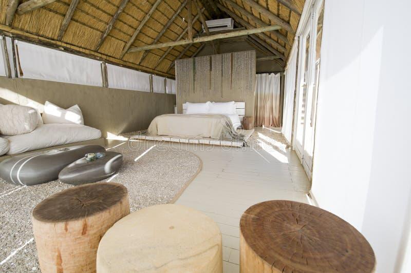 Hotel de lujo del safari en Namibia fotos de archivo