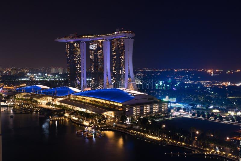 Hotel de lujo de Marina Bay Sands fotos de archivo