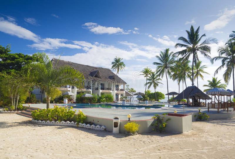 Hotel de luxo em Bweeju, Zanzibar fotos de stock royalty free