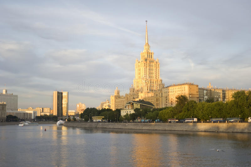 Hotel de Oekraïne in Moskou royalty-vrije stock foto