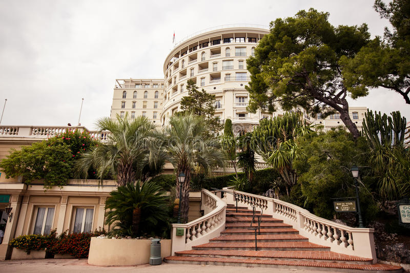 Hotel de Paris exterior view in Monte Carlo. Monaco stock image