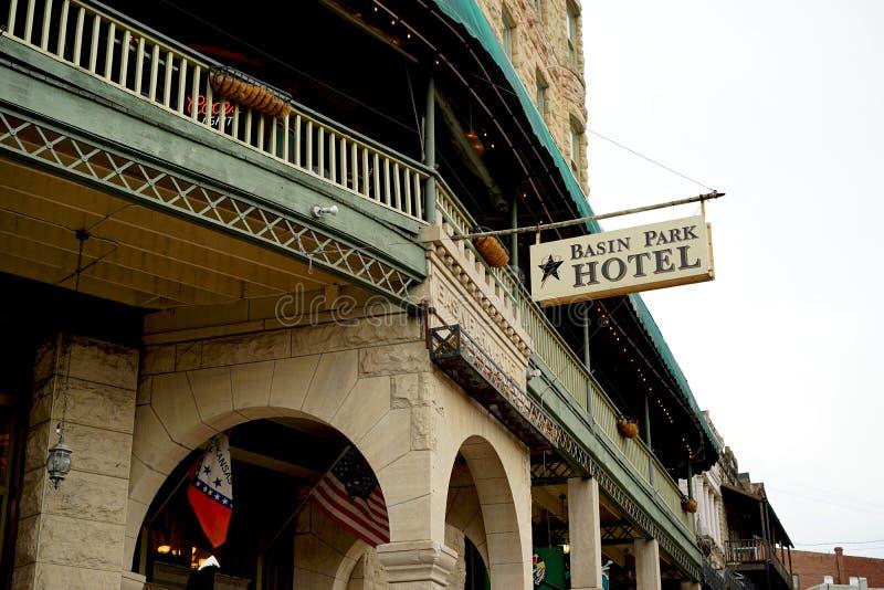 Hotel de parque da bacia - Eureka Springs, AR fotografia de stock royalty free