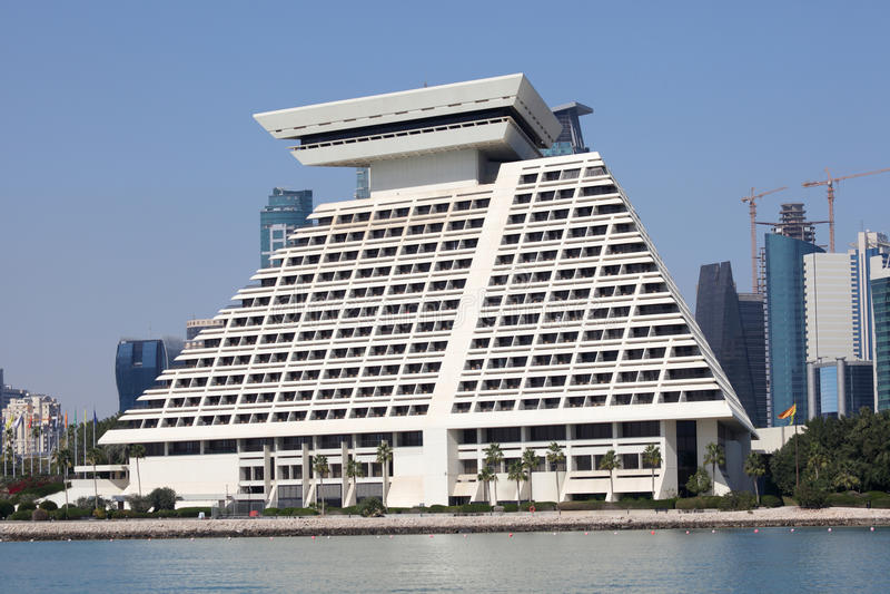 Hotel de Sheraton en Doha. Qatar fotos de archivo