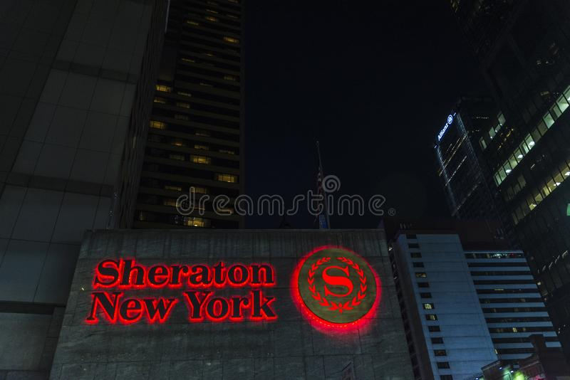 Hotel de Sheraton New York Times Square en Nueva York, los E.E.U.U. fotos de archivo libres de regalías