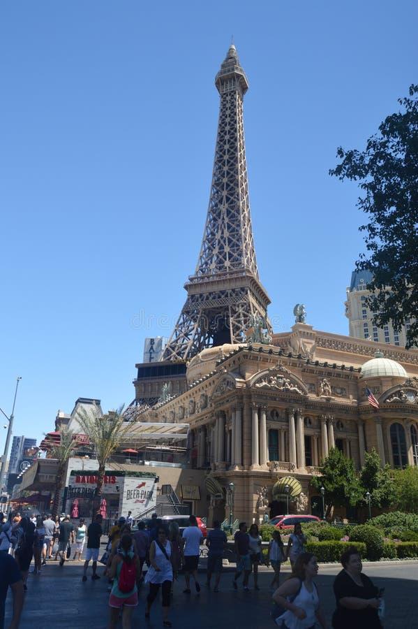 Hotel de Torre Eiffel París en la tira de Las Vegas Vacaciones del viaje imagenes de archivo