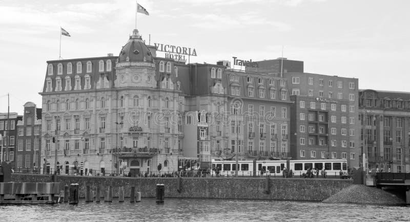 Hotel de Victoria de la plaza del parque fotografía de archivo