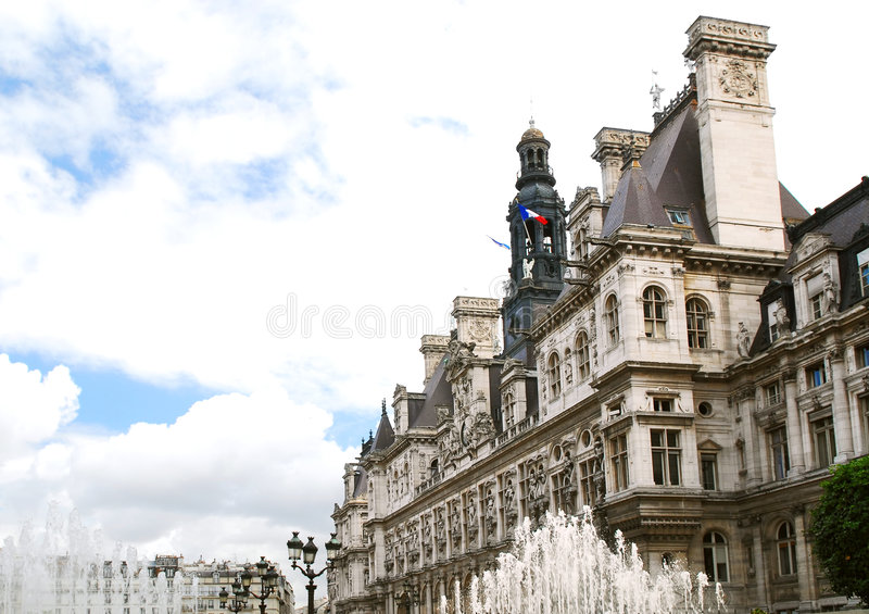 Hotel de Ville à Paris images stock